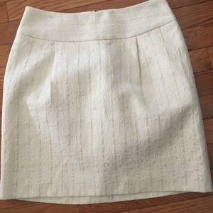 Cream Tweed Merona Skirt